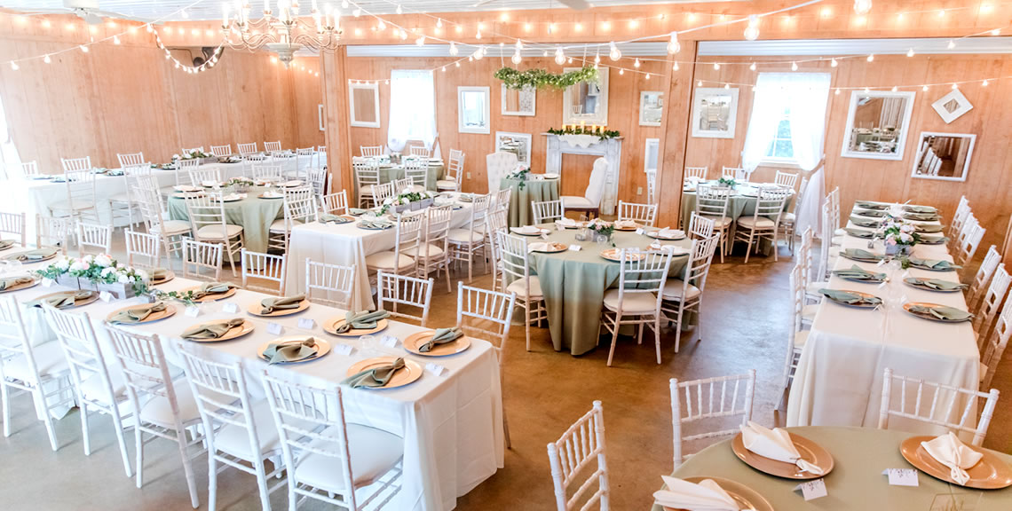 interior of wedding venue mechanicsville maryland
